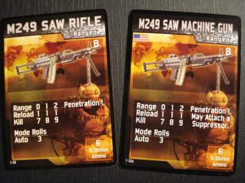 Esempio di carta arma originale e corretta.