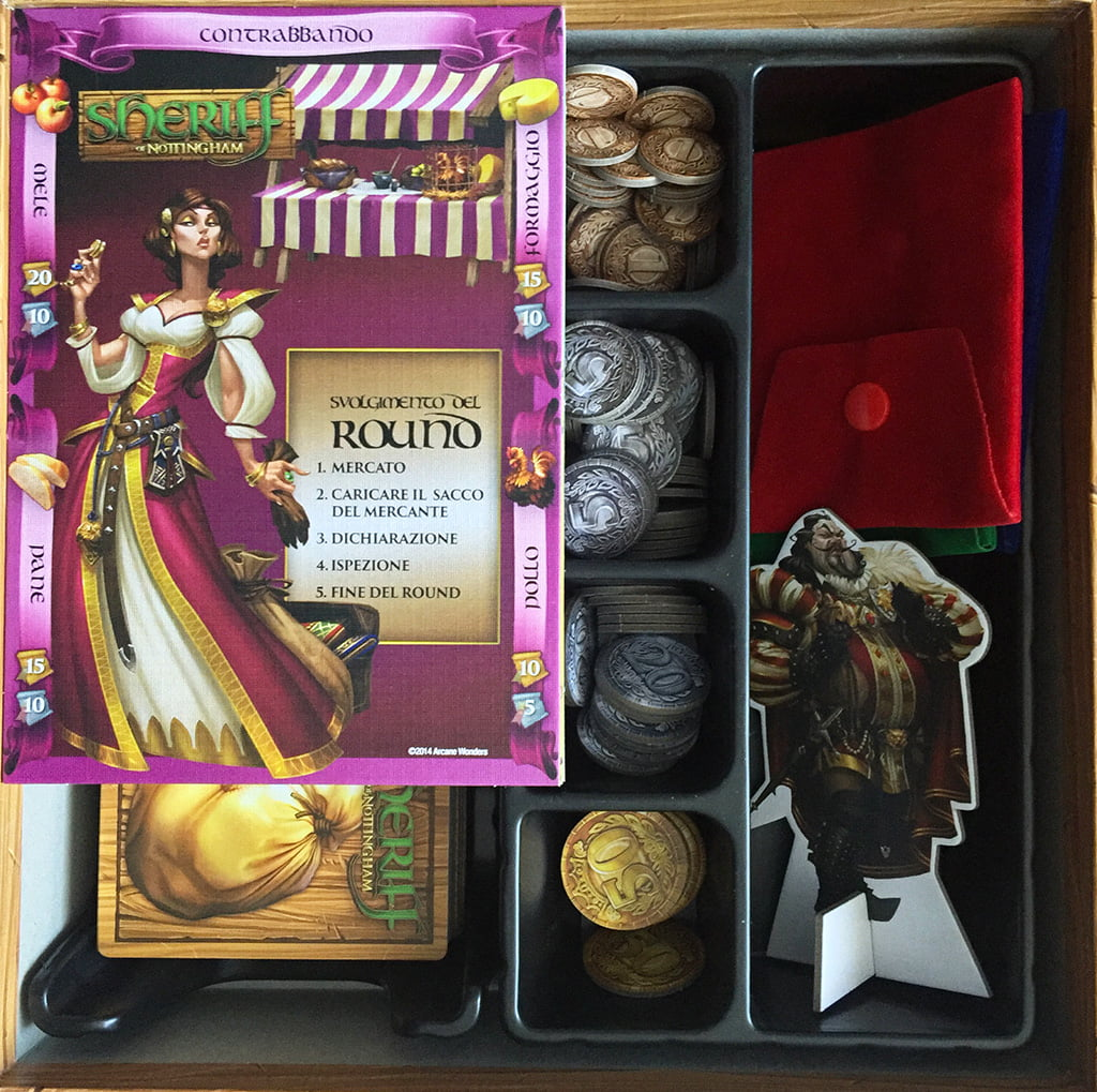 L'interno della scatola: tutto in ordine perfetto, grazie all'ampio spazio disponibile.