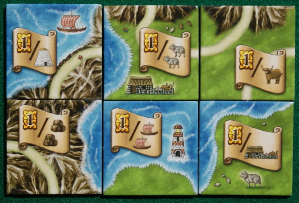 I sei tipi di tessere con pergamena