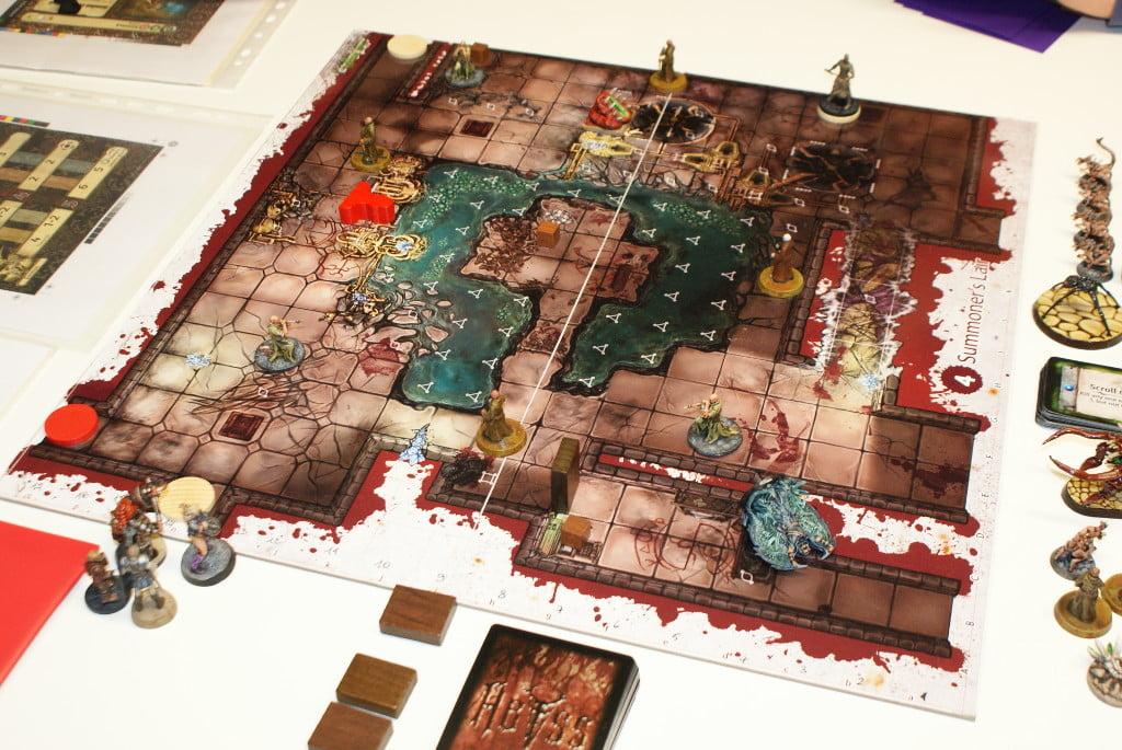 Ecco come si presenta il tavolo all'inizio della partita