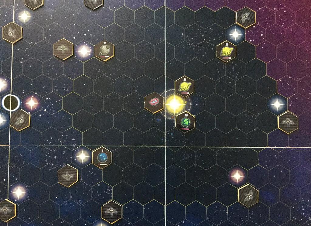 Una vista del sistema solare nella nostra partita...