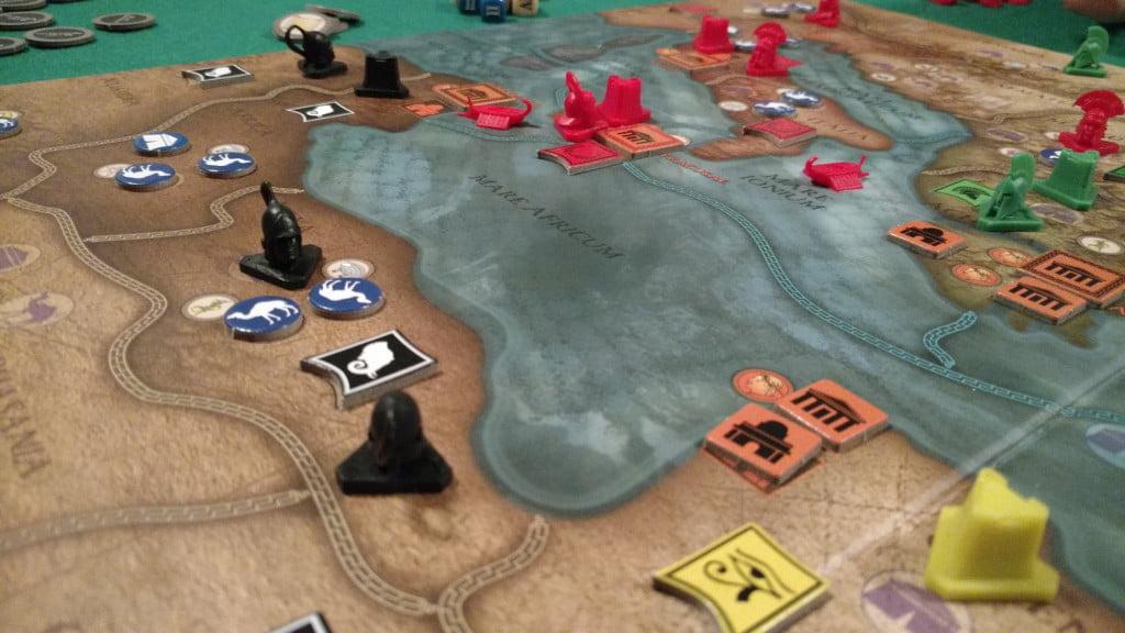 Il labile confine tra Egitto e Cartagine ad inizio partita.
