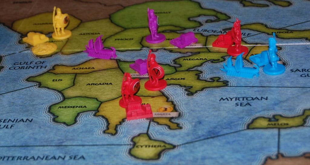 La penisola ellenica è spesso teatro di dure battaglie