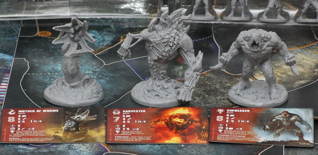 Boss monster e le relative carte per gestirli.