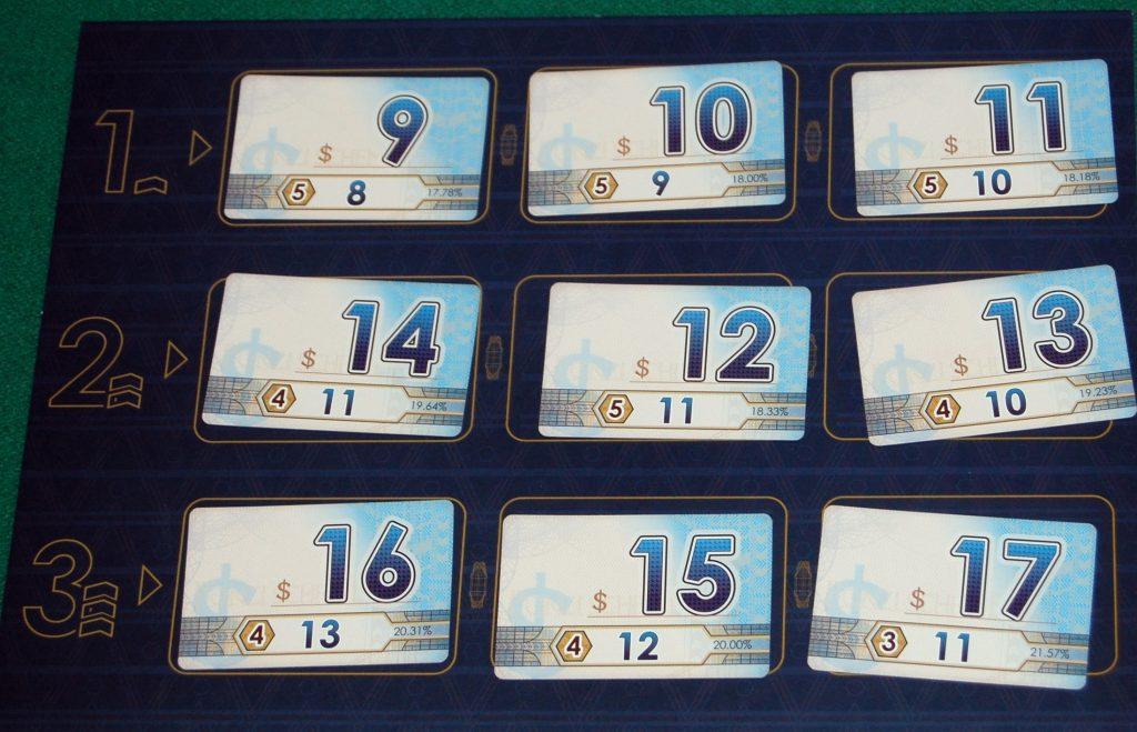 Le carte fondi di inizio partita