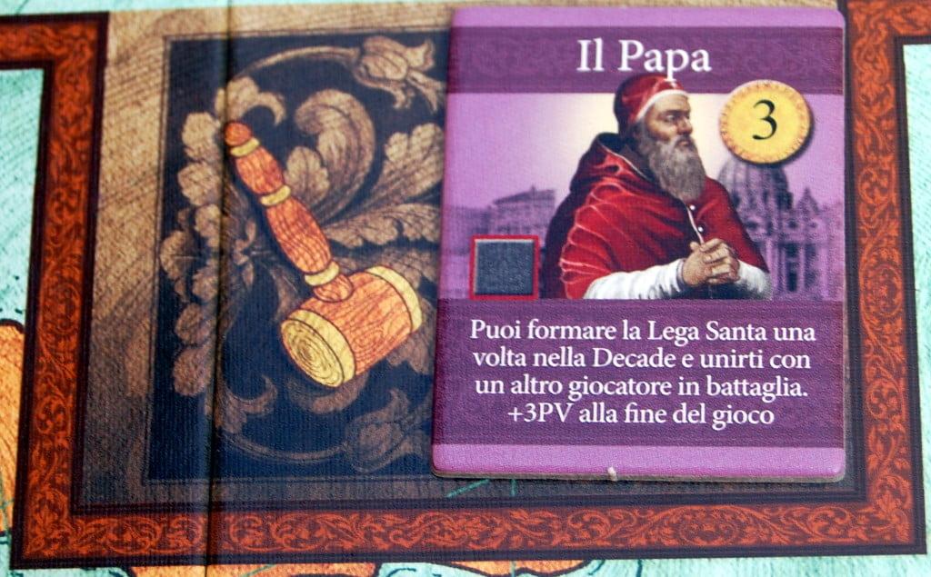 L'asta della carica di Papa.