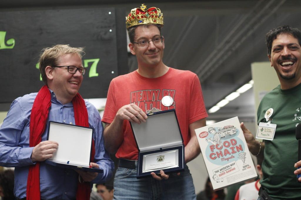 La premiazione di Doumen, a destra nella foto, e Wiersinga
