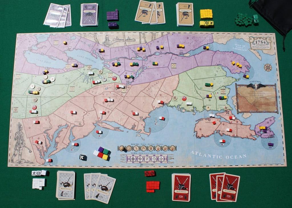 La mappa all'inizio della partita