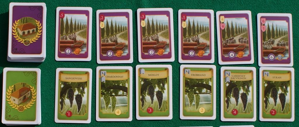 Carte Ordini, in alto, e Vigne, in basso