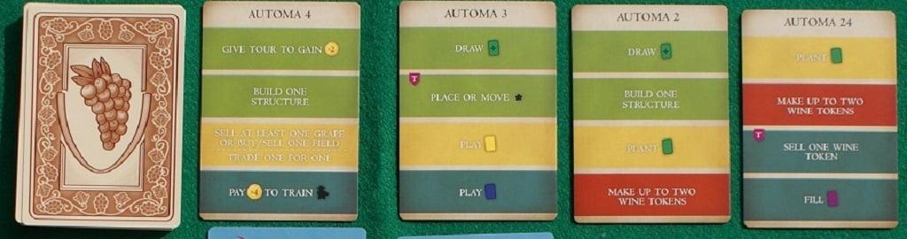 Le carte Automa per il gioco in solitario