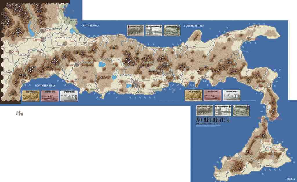 La mappa d'Italia completa