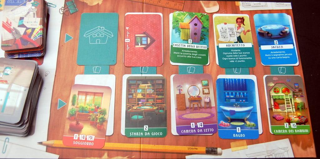 La plancia delle carte disponibili nel turno