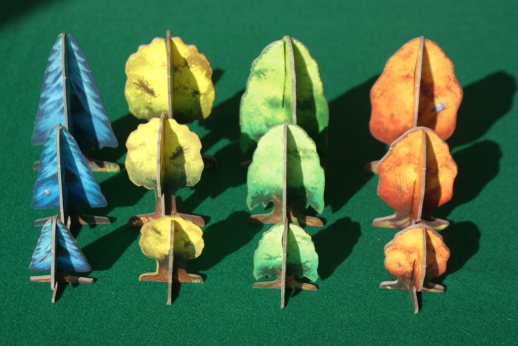 Da sinistra: pini, querce, tigli e aceri