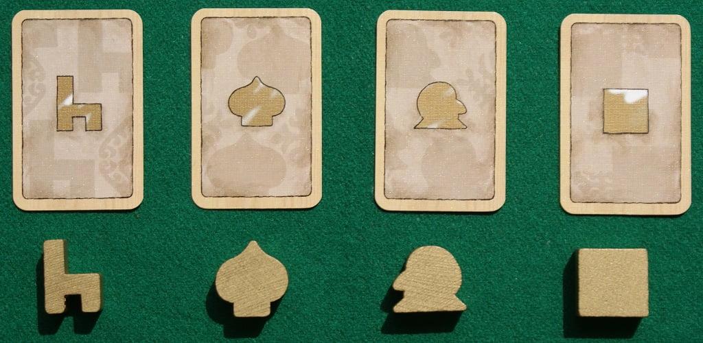 Le carte ed i segnalini dorati