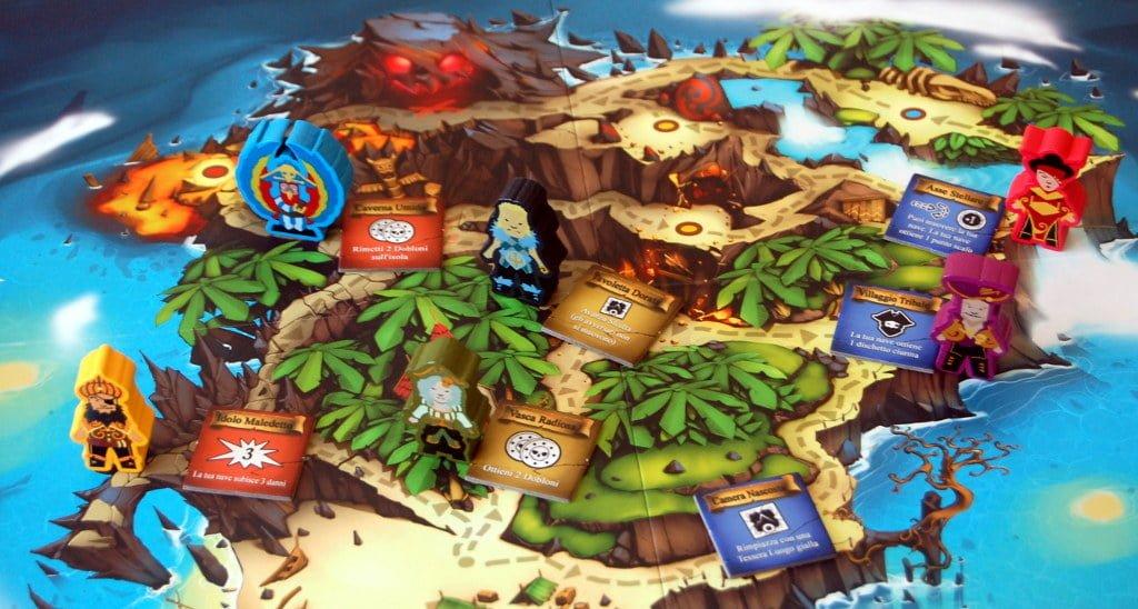La mappa dell'isola a metà partita