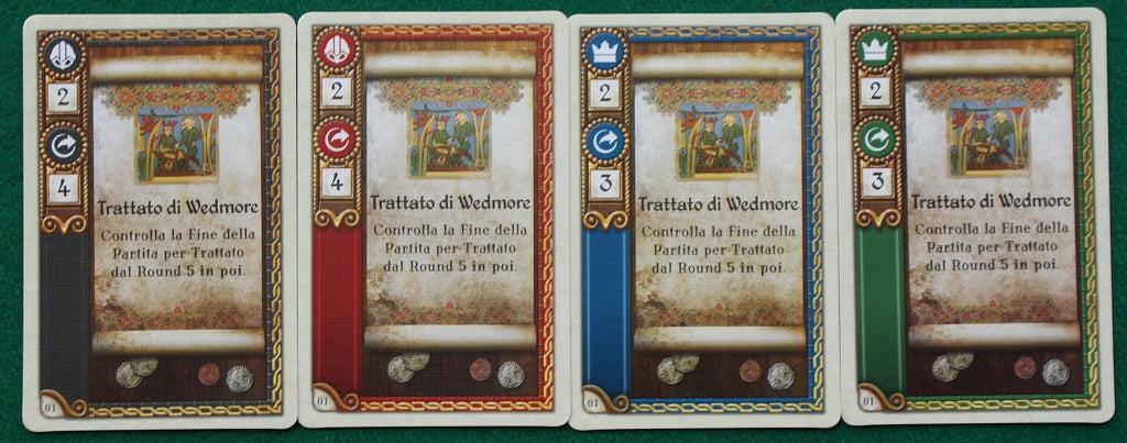 """Le carte """"Trattato"""" delle quattro fazioni"""