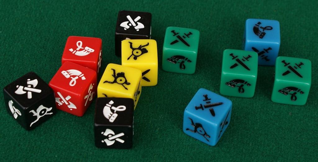 I dadi usati nei combattimenti.