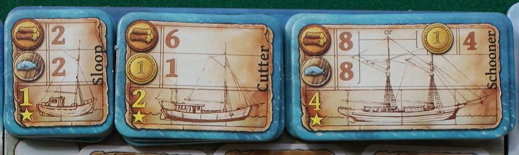 La plancia con le barche disponibili per l'acquisto