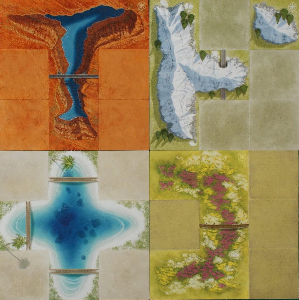 """Alcune delle plance """"Paesaggio"""""""