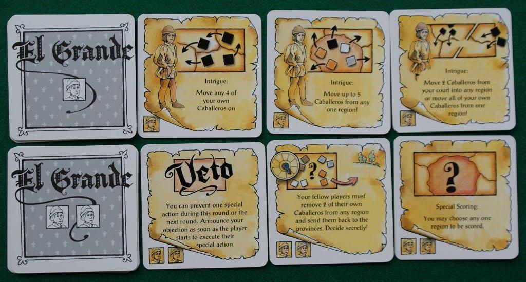 Le carte Azione dei mazzetti I e II