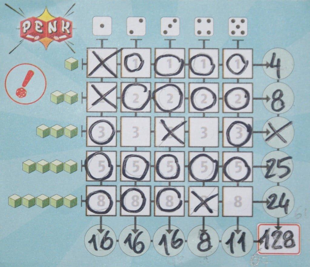 un esempio di punteggio