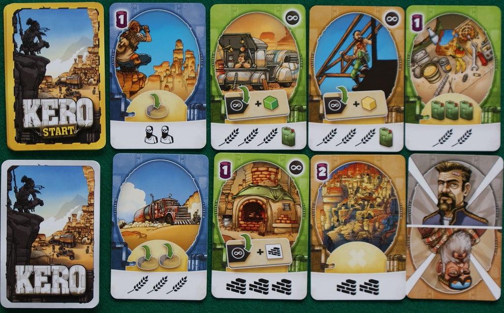 Alcune delle carte in gioco.