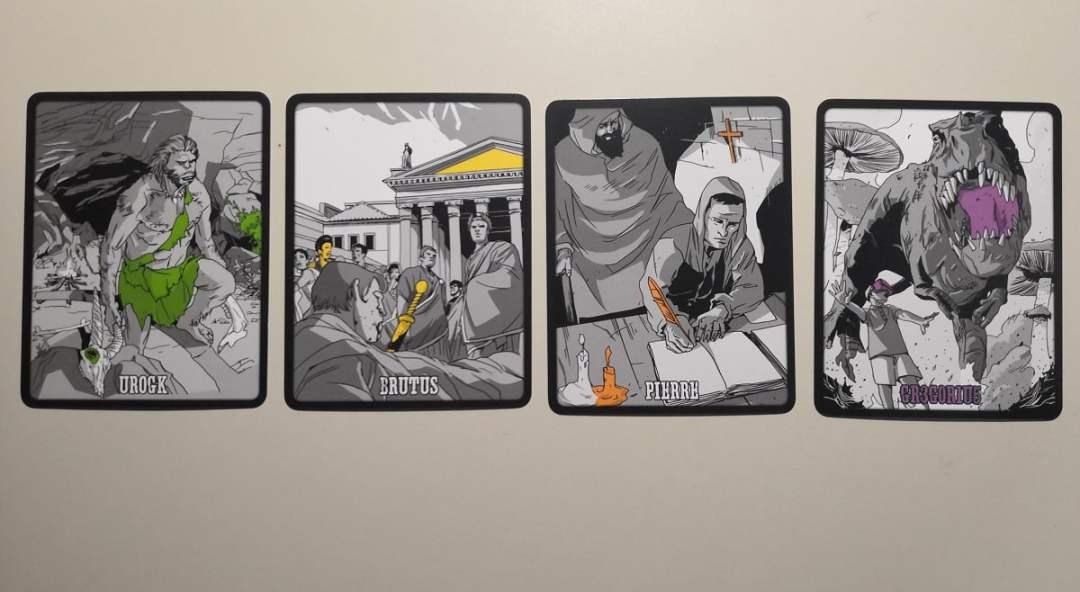 Alcune carte di 3 Segreti: Crimini nel Tempo