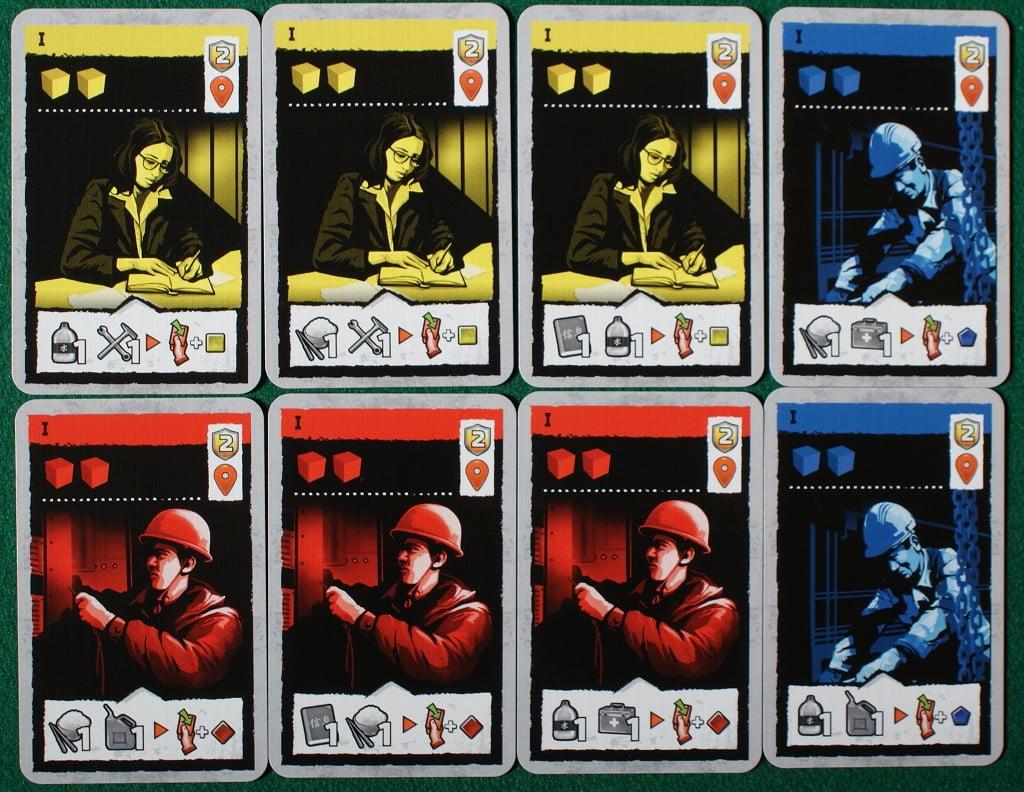 """Le carte """"Obiettivo/Volontario"""" iniziali"""