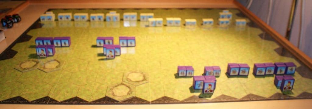 Ed ecco schierate sul campo le unità per la battaglia di Thannuris