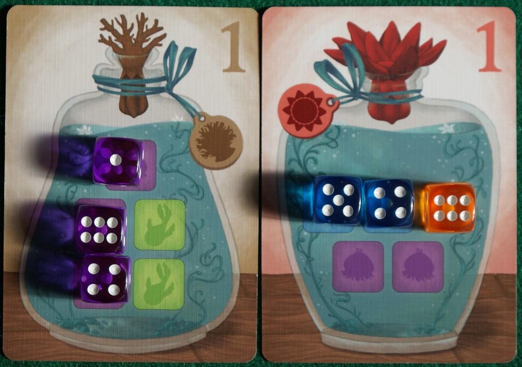 Esempio di vasi durante il gioco