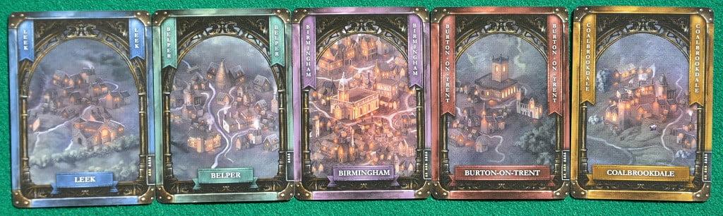 """Alcune delle carte """"Città"""""""