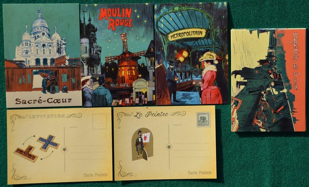 Alcune delle cartoline.