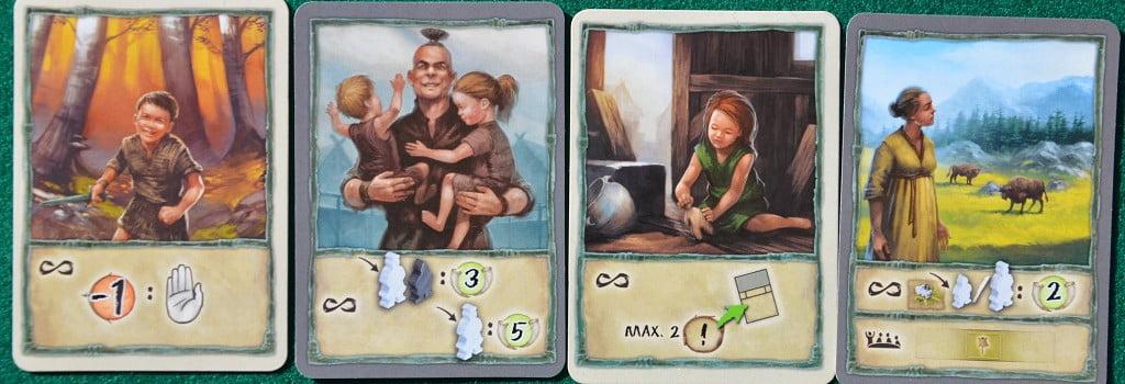 """Alcune delle carte """"Personaggio"""""""