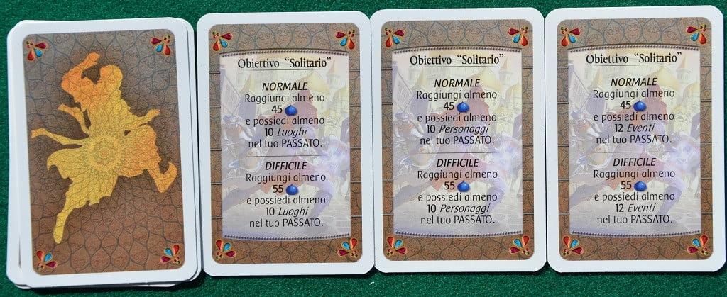 """Le carte """"Obiettivo"""" per il gioco in solitario"""