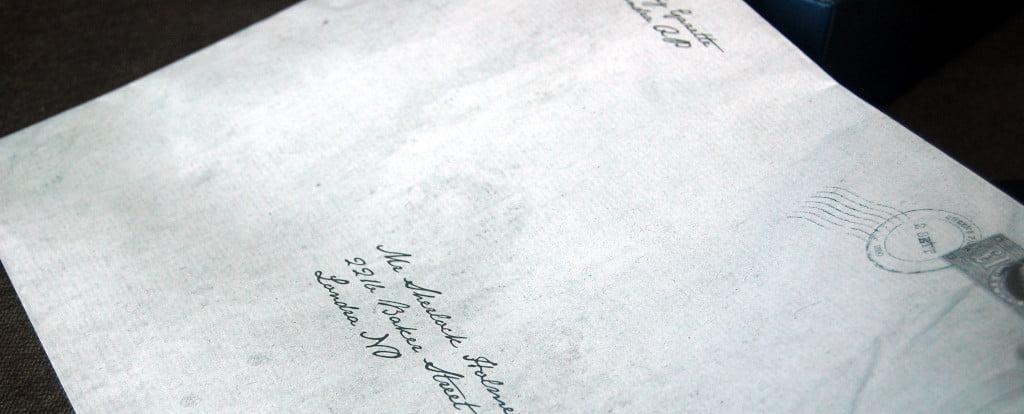 Una missiva ricevuta da Mr Holmes.