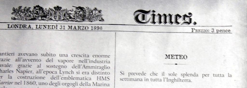 Dettaglio del Times - meteo