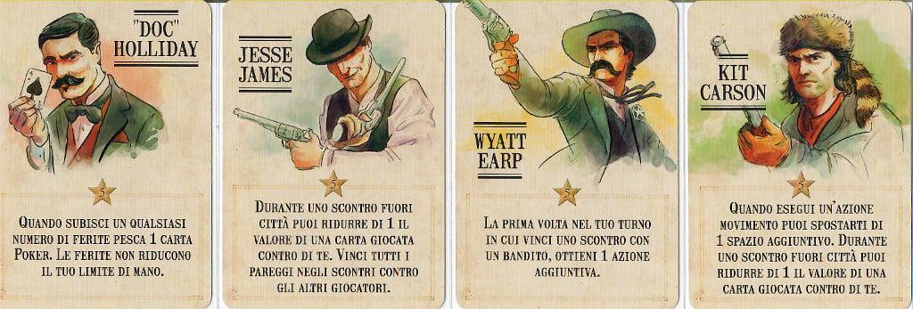 Alcuni personaggi - Fronte delle Carte