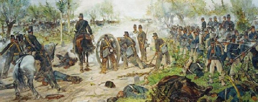La battaglia di Custoza.