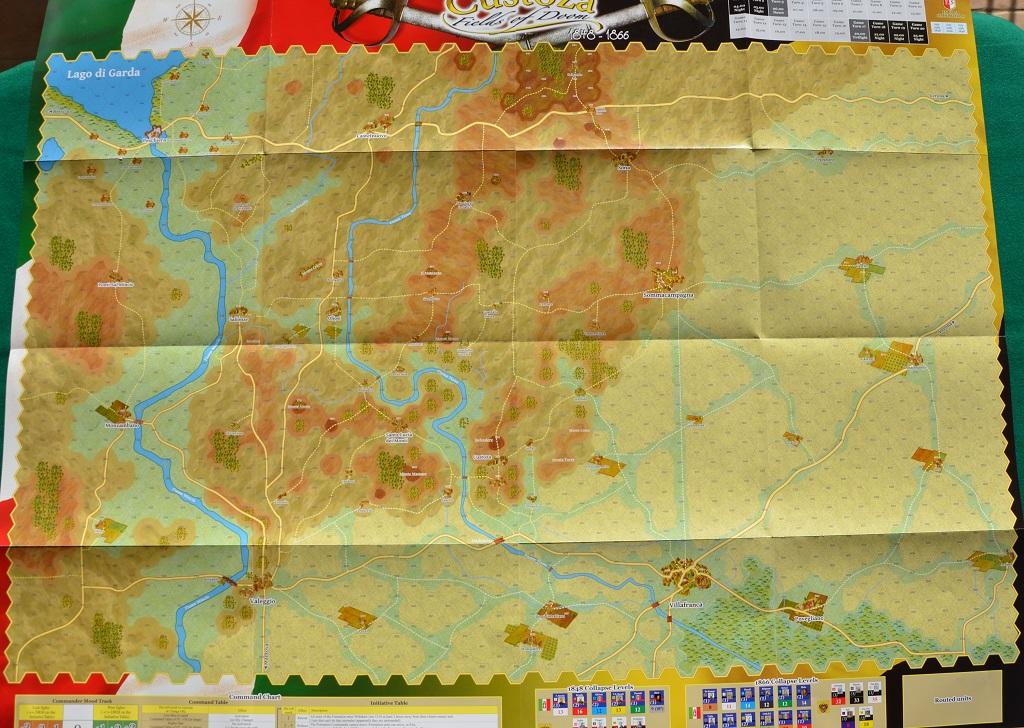 La grande mappa di Custoza.