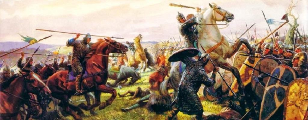 Battaglia medievale.