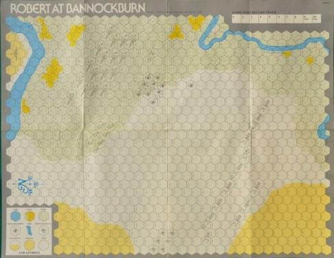 Mappa di Bannockburn.