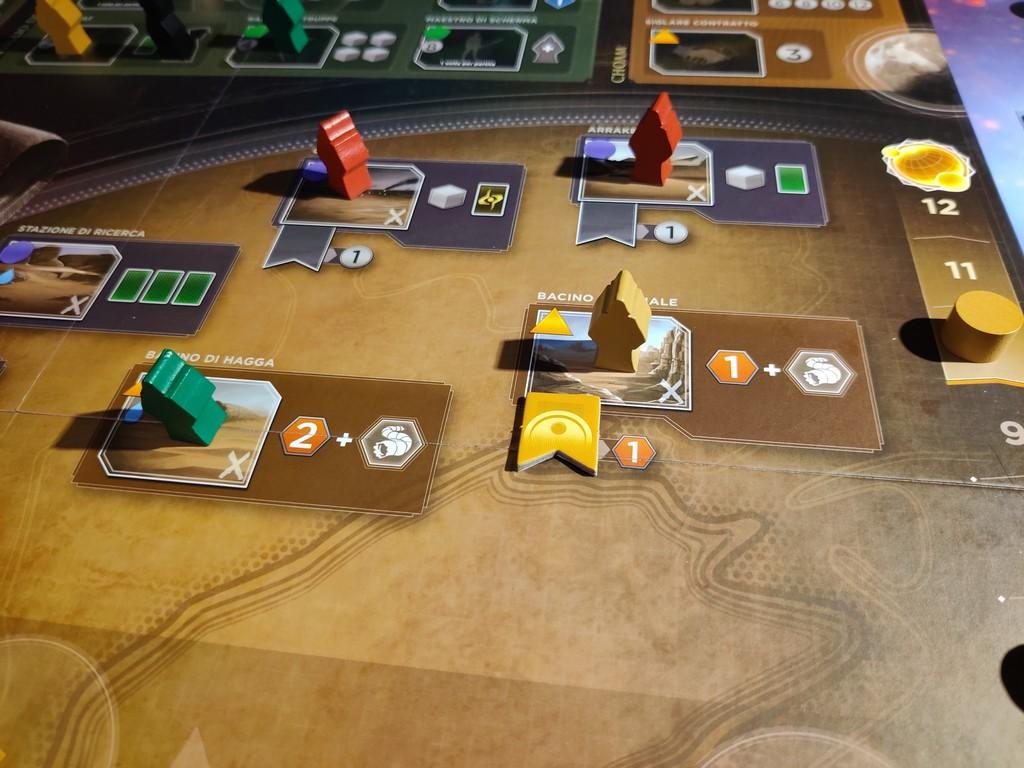 Il giocatore giallo ha il controllo del Bacino Imperiale, e ottiene quindi un bonus di una spezia.