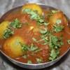Dum Tinda in Tomato Sauce - Whole Indian Baby Pumpkins in Tomato Sauce - 11 Jul 15