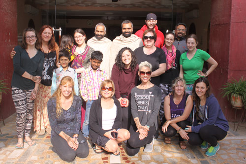 We love connecting deeply – a Canadian Yoga Group at our Ashram – 13 Dec 15