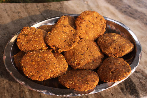 Recipe for Healthy Mathri with mixed Seeds – 6 Feb 16