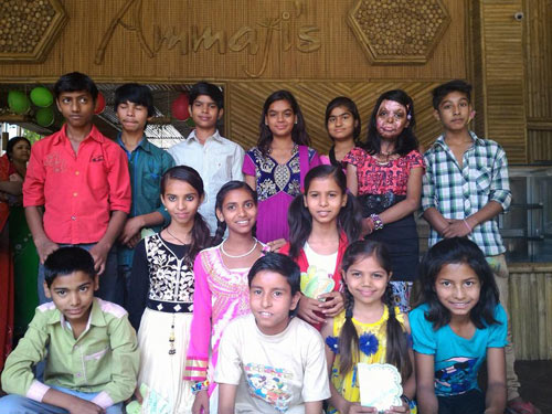 Farewell Party at Ammaji's for our Fifth Graders – 26 Apr 16