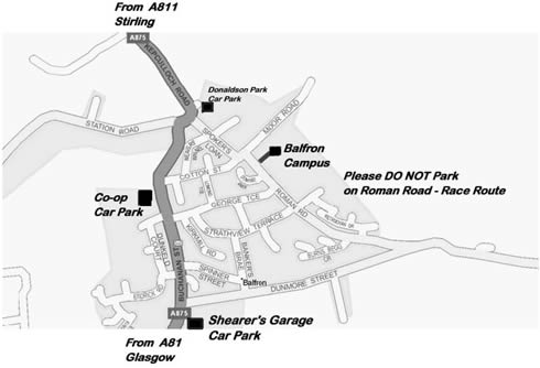 map of Balfron