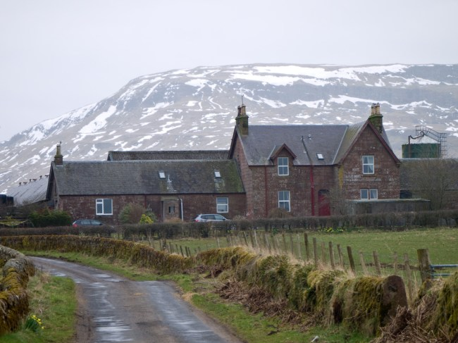 Broughmore Farm with Stronend beyond