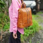 tas kulit ransel wanita