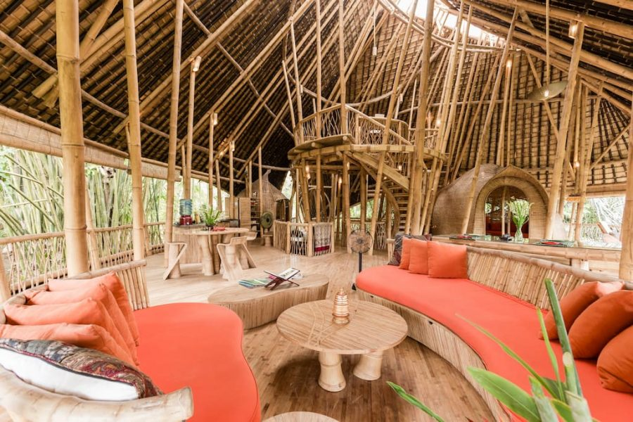 Villa in bamboo Ubud